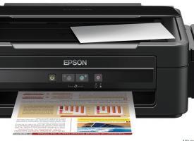 Epson L110 с оригинальным снпч