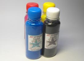 Комплект цветного тонера для HP Color LJ-1215 / 1025 / 1525 / 2025 / Pro 200 / Pro 300 / Pro 400 45гр.